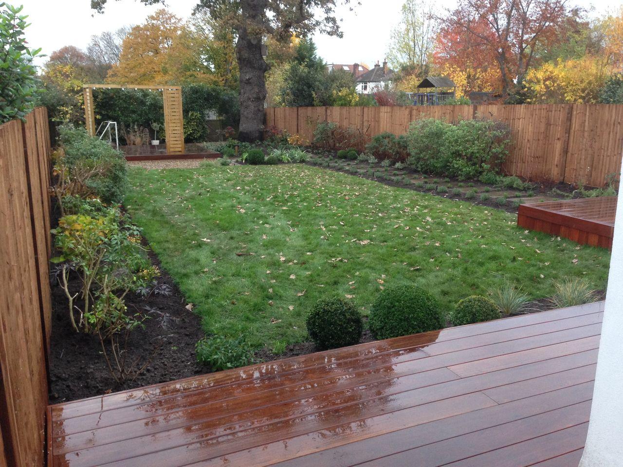 Balau Decking Garden